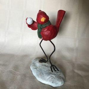 Russ Berrie Bird Figurine 13256 Snowball Fight